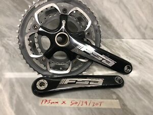 FSA-Gossamer-BB30-Crankset-Triple-75mm-Road-Bike-In-Nice-Condition