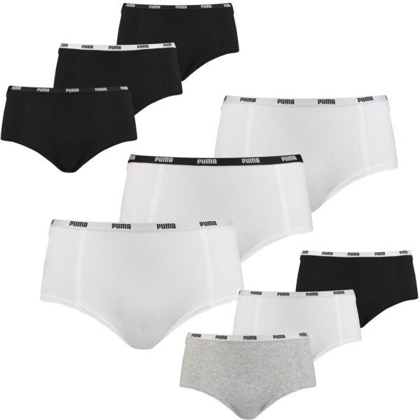 Puma Damen Mini Shorts Unterwäsche Unterhosen im Vorteilspack 3er oder 6er Pack
