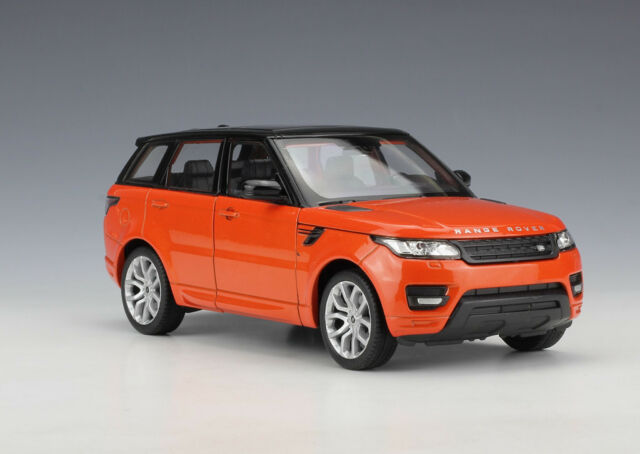 Welly 1 24 Range Rover Sport Diecast Model Suv Car Orange For Sale