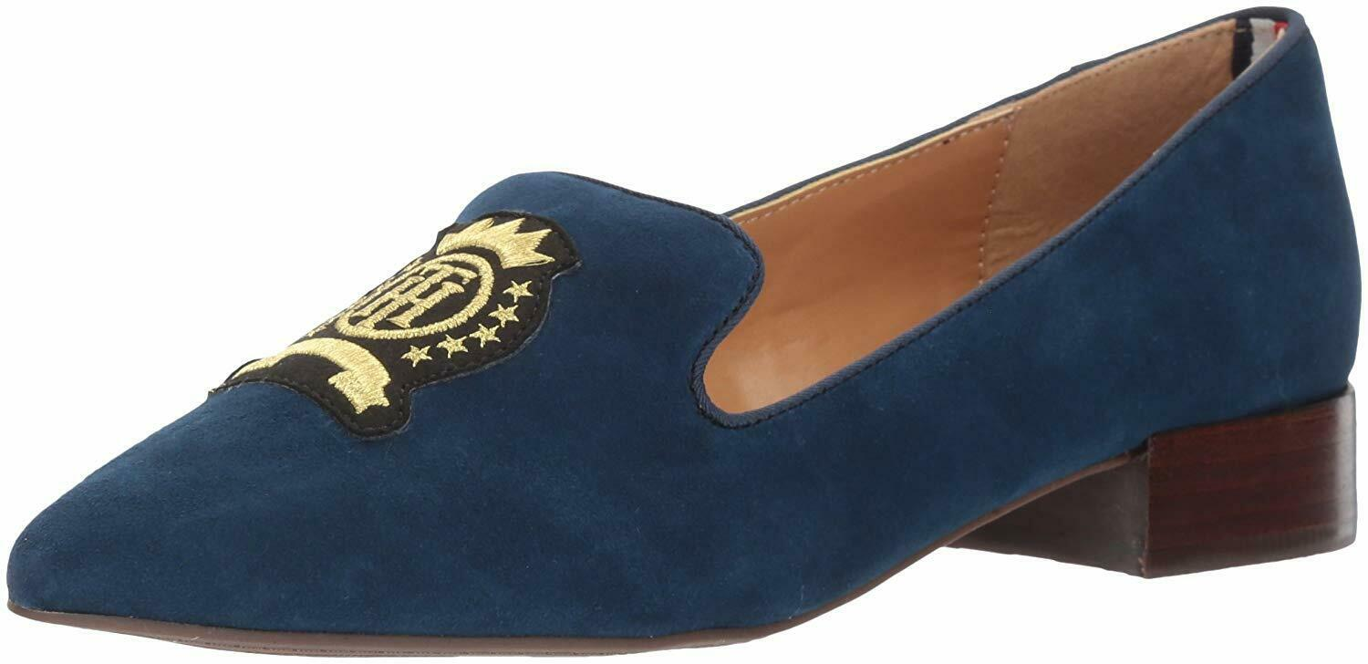 Tommy Hilfiger Women's Hansun Driving Style Loafer, Navy, Size 8.0 Y4SD US