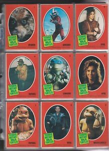 1990 Teenage Mutant Ninja Turtles Complete Base Set 1 - 132 + Insert set 1 -11