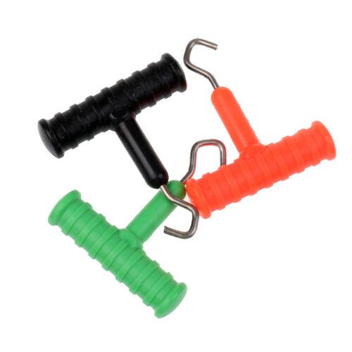 3 Stücke Karpfenfischen Knoten Puller Werkzeug Rig Making Tool