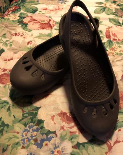 Details about  /Crocs Malindi Woman 7 Brown Sling Back Ballet Mary Jane Slip-Ons