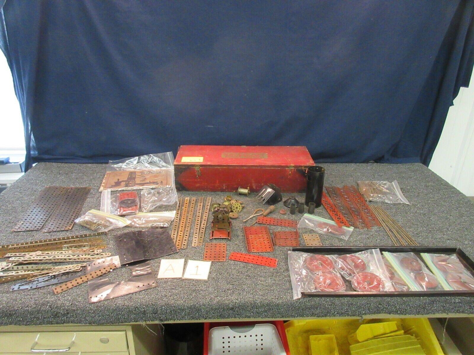 AC Gilbert Vintage TruModel Construction Set Toy Wood Box Duplex Antique Erector