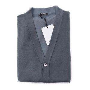 a96268b1 NWT $1995 KITON Gray-Green Knit Cashmere-Silk Cardigan Sweater Vest ...