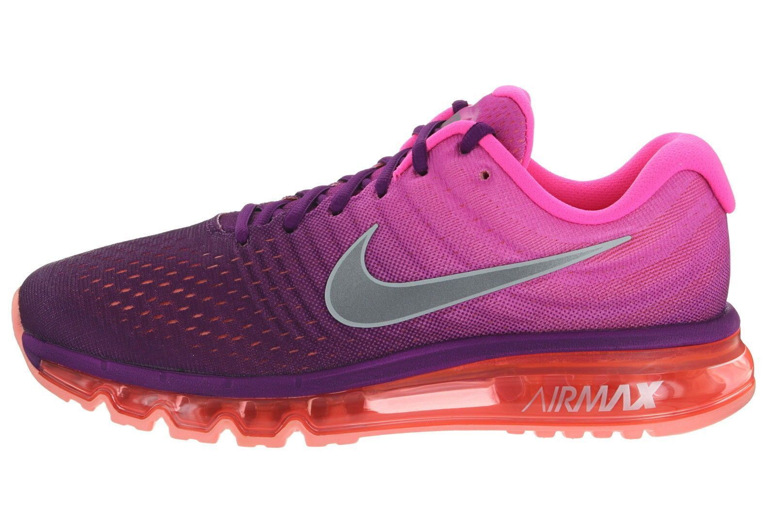 NIKE NIKE NIKE AIR MAX 2017 Wmn Sz 7 BRIGHT GRAPE FIRE PINK RUNNING 849560 502 1d776a