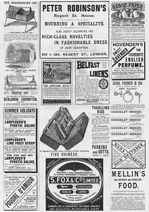 VICTORIAN-ADVERTS-Fox-Umbrellas-Travelling-Bags-Water-Pumps-Antique-Print-1893