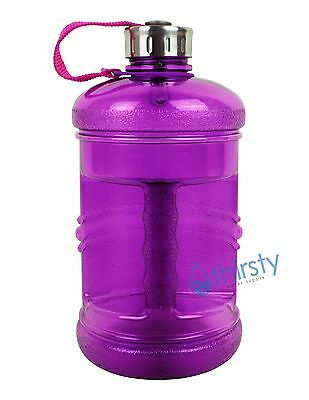 Grey BPA Free Water Bottle 2.3 Liter Canteen Gym Bottle Jug Container .6 Gallon