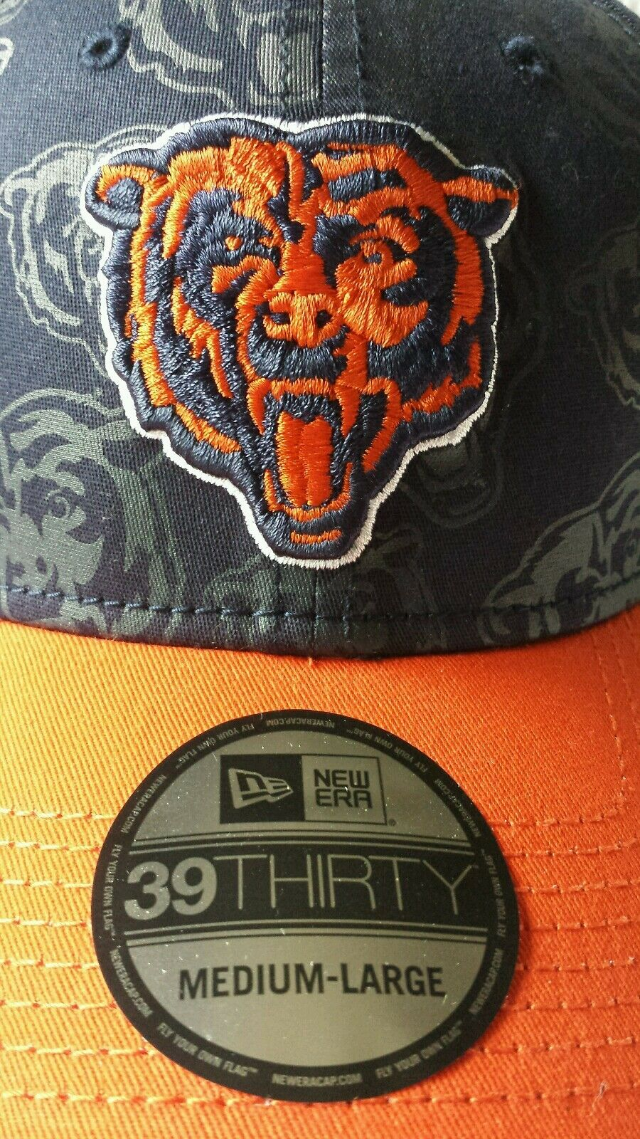 Chicago Bears New Era 39thirty M L Stretch Fitted Hat Rare Rare Hat