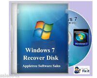 Acer Laptop & Desktop Window 7 System Recovery Disk Boot CD 7  - 32 &  64 bit