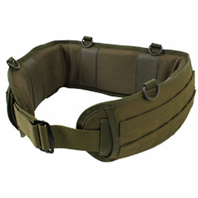 Padded MOLLE Combat  Battle Belt Competition and Military Operators - Olive Drab