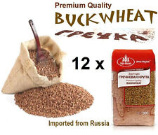 Premium Quality BUCKWHEAT groats - (12) Twelve  900gr Packs - Import from Russia