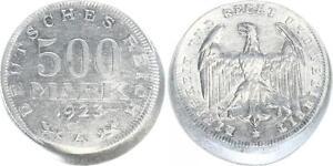 Lack Coinage Empire Inflationszeit 500 Mark 1923A XF, 15% Dezentriert Vf-Xf