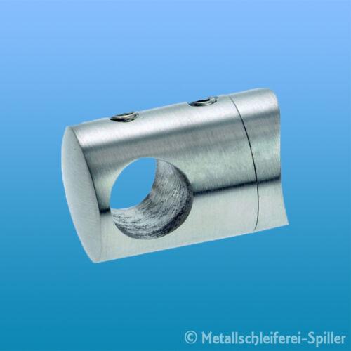 Edelstahl Querstabhalter Ø 22mm  33,7mm Bohrung 10,2mm Inox Halter