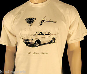 VOLVO-P1800-T-SHIRT-039-The-Saint-039-TV-series-car-5-sizes-in-Natural-or-Ash-Grey