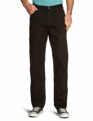 Bnwt Hommes Lee Brooklyn Coupe droite 100/% Coton Jeans regular noir W33 W34 Zip