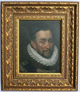 William III of England Framed Oleograph R575#E Reproduction Picture