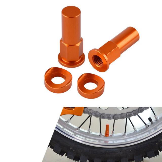 CNC Orange Rim Lock Nuts Washers Fit KTM 125 250 350 450 525 SX/SX-F/EXC/EXC-F