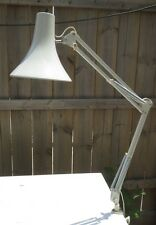 Vintage Mid Century Articulating Swing Arm Drafting Desk Lamp Luxo Ledu White