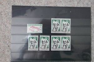 Kleine-Sammlung-postfrischer-Briefmarken-Republique-du-Dahomey