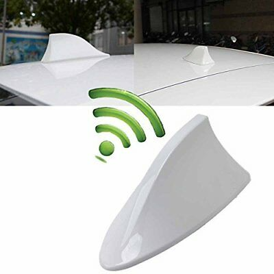 White Car Shark Fin Roof Antenna Radio FM//AM Decorate Aerial For Mercedes-Benz