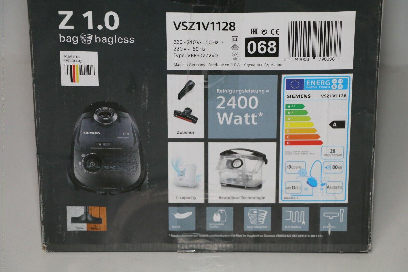Staubsauger Siemens Z 1.0 blau transparent günstig kaufen   eBay