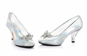 Clear Glass Slippers Cinderella Costume Shoes Wedding Princess ...