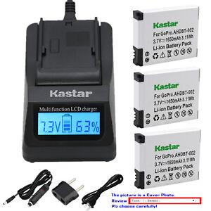 Kastar-Battery-LCD-Fast-Charger-for-AHDBT-001-AHDBT-002-amp-Gopro-HD-Helmet-HERO