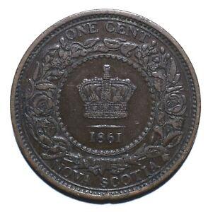 1861-Nova-Scotia-Canadian-Provinces-One-1-Cent-Victoria-Lot-1162