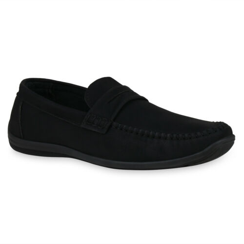 Herren Slippers Mokassins Flache Schlupfschuhe Cut-Outs Schuhe 834939 Trendy Neu
