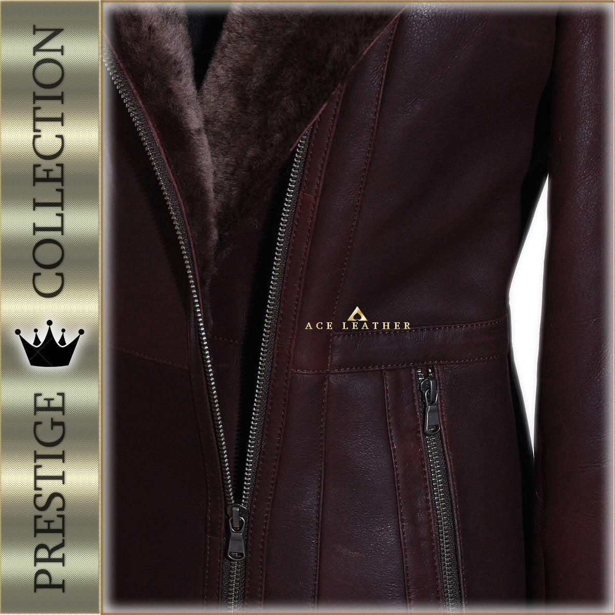 'Prestige' 'Prestige' 'Prestige' Sophia Brown Ladies Hooded Real Marino Shearling Sheepskin Coat dabb56