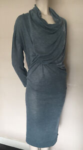 Vivienne-Westwood-Made-in-Italy-Fine-Knit-Ruched-Draped-Dress-size-S-UK10-12