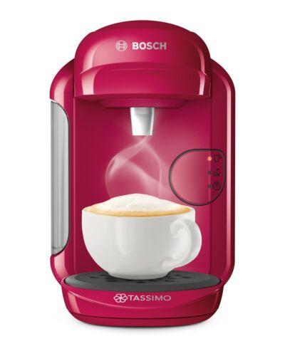 Bosch TAS1401 Tassimo Vivy 2 Multibeam Coffee Maker 1300W Fuchsia Capsules NEW