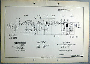 ITT-GRAETZ-Susi-830-Schaltplan