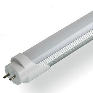 led t8 tube light 2ft 4ft 5ft retrofit fluorescent replacement milky cover. Black Bedroom Furniture Sets. Home Design Ideas
