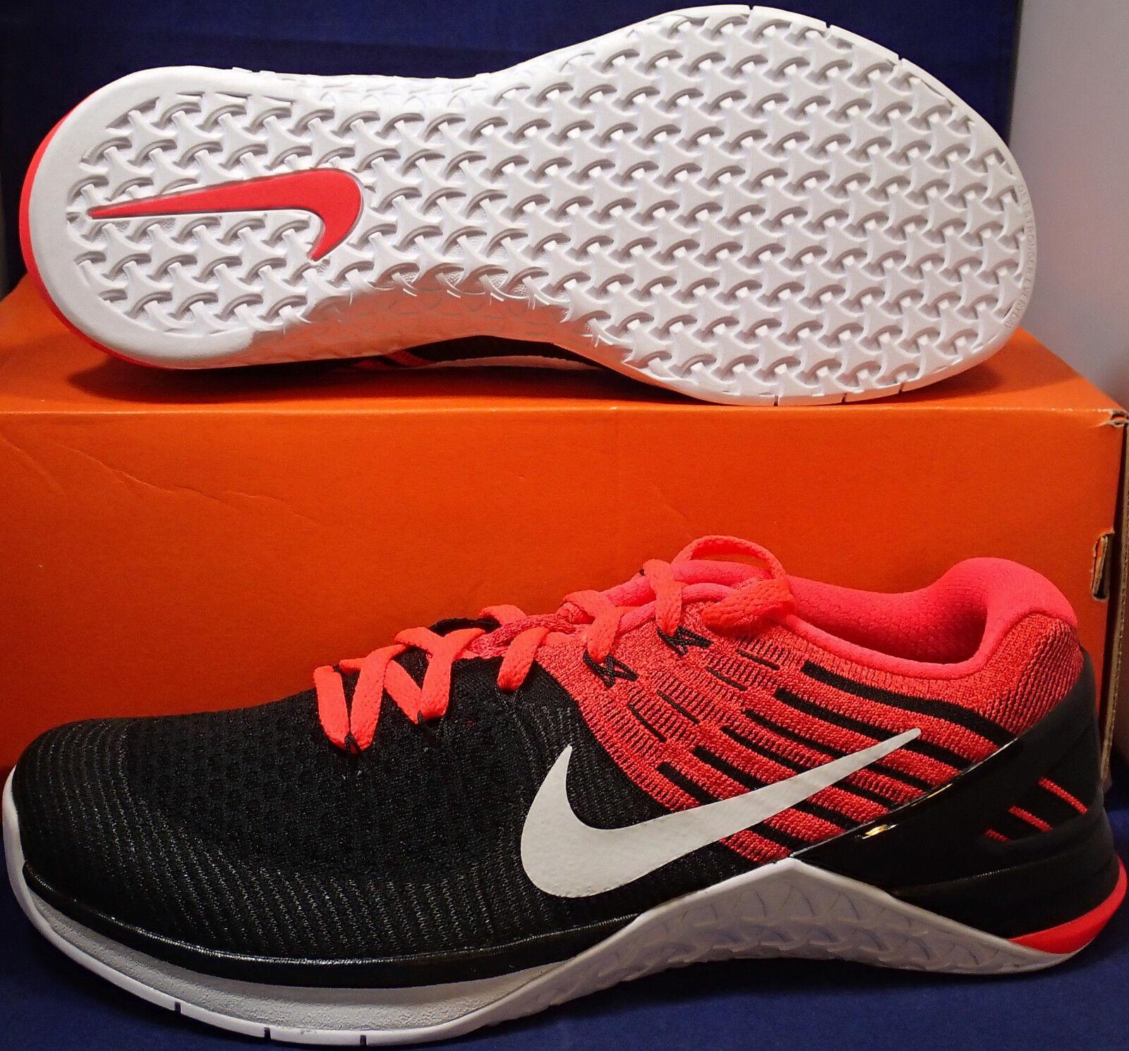 Nike Metcon 3 DSX Flyknit Black Bright Crimson CrossFit SZ 10.5 ( 852930-009 )