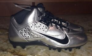info for a0d75 41bed Image is loading NIKE-Speedlax-IV-Lacrosse-Metallic-Silver-Black-Cleats-