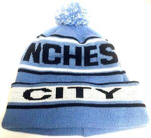 ccd15af5a8d Manchester City Hat Pom Pom Sky Blue Bobble Hat Football Gifts