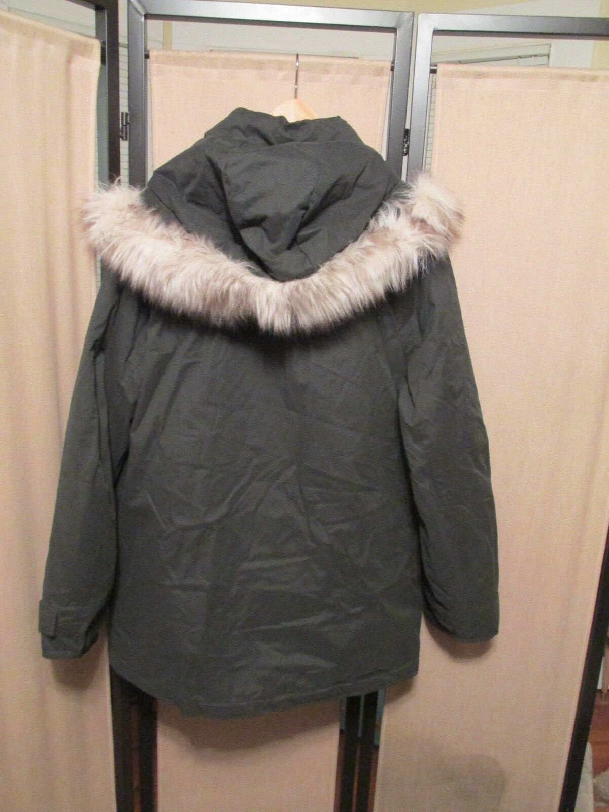 American Eagle AE men's extreme parka 9810 faux fur hood NWT size large