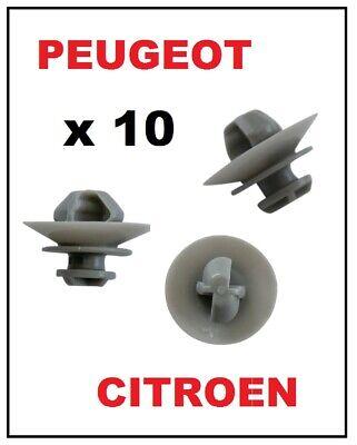 10 X For Peugeot Partner 306 406 407 607 door moulding body panel trim  clips