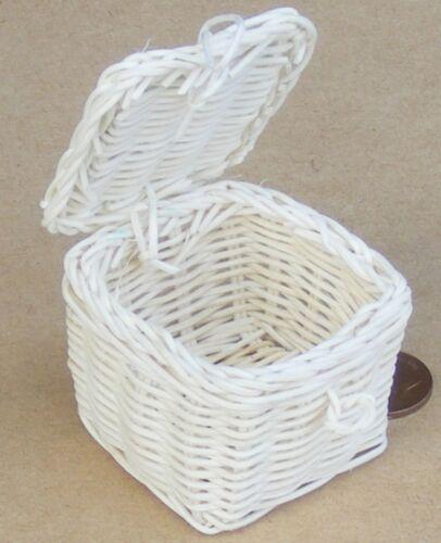 Medio de escala 1:12 cesta de picnic 5cm X 5cm tumdee Casa De Muñecas abrir el cesto Zl