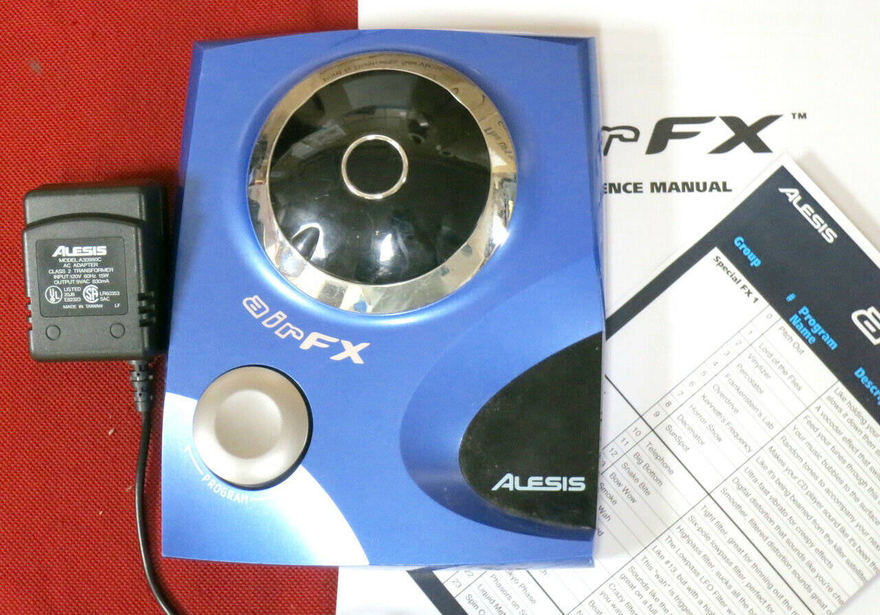 Alesis AirFX theremin hand theramin air fx effects w  Manual + Program Chart