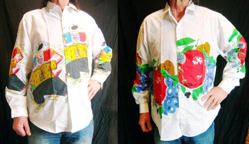 Camicia Manica Bianco Francese Uomo screen Stampa Lunga Unico Silk Loud qSUYRxpq