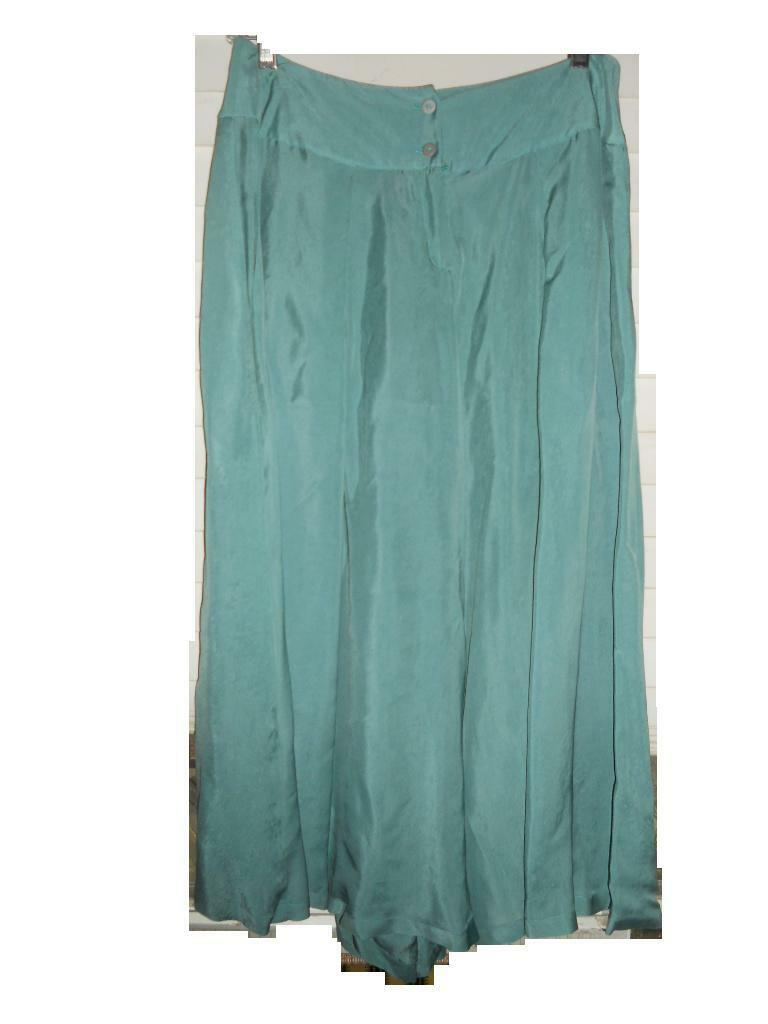 NWT Lilith France Art To Wear Lagenlook Aqua Gaucho Pantajupe SkirtM 460