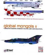 lh903/ Lift Here Decals - MiG-21 UM - Global Mongols - Pt. II - 1/72 - TOPP