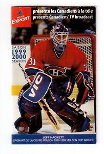 NHL-HOCKEY-1999-2000-MONTREAL-CANADIENS-SCHEDULE