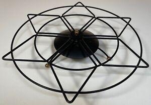 Vintage 50s Black Metal Wire Lady Susan Base Mid Century Modern Atomic Tripod