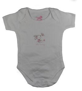 8110f44442fd35 Rock a Bye Baby Body Kurzarm weiß Hase Größe 0 - 3 M. 62cm Mädchen ...
