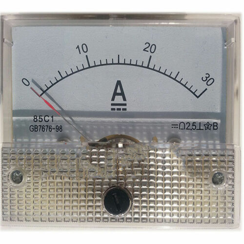 1pcs 85C1-A Type DC 0 To 30Amp Classe 2.5 Analogique Ampèremètre ampère mètre