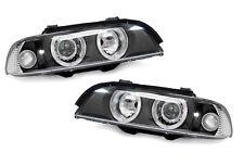 BMW 5 E39 96-00 Angel Eye Black Projector Headlights Lighting Lamp Part Depo